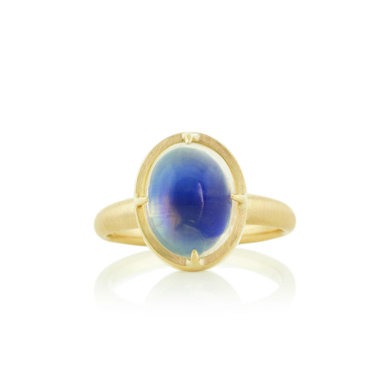PRONG MOONSTONE RING