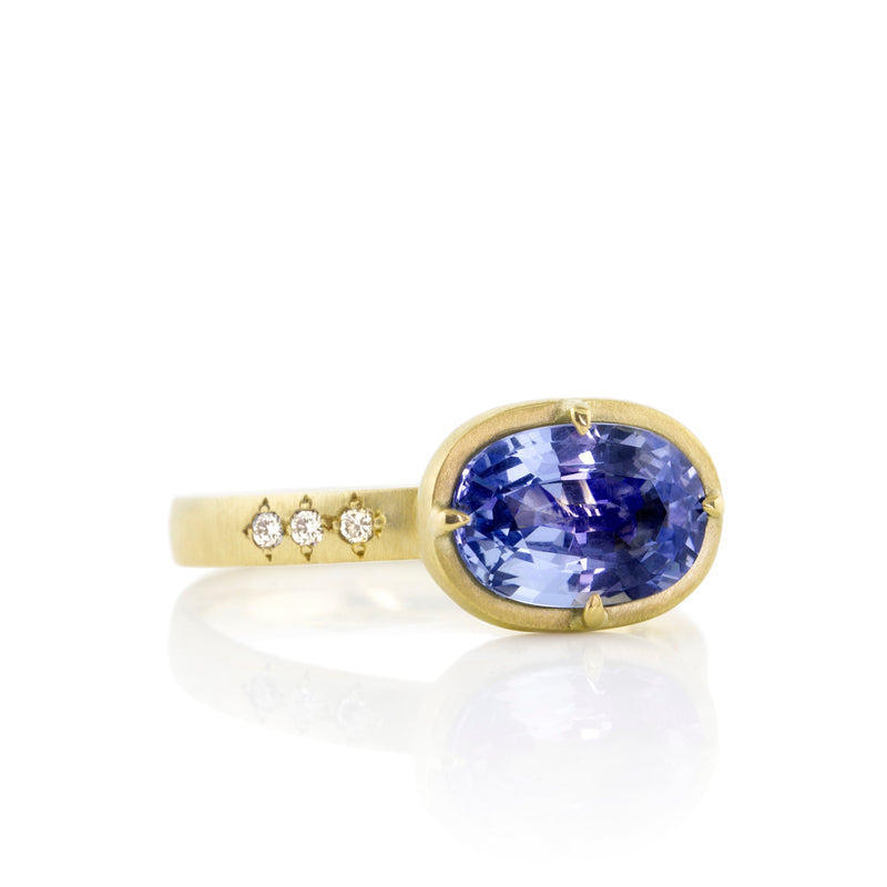 Oval Sapphire Prong Ring