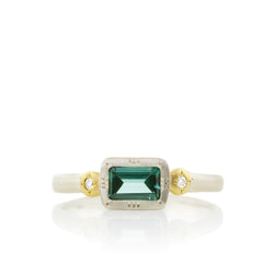 Emerald Cut Starburst Ring