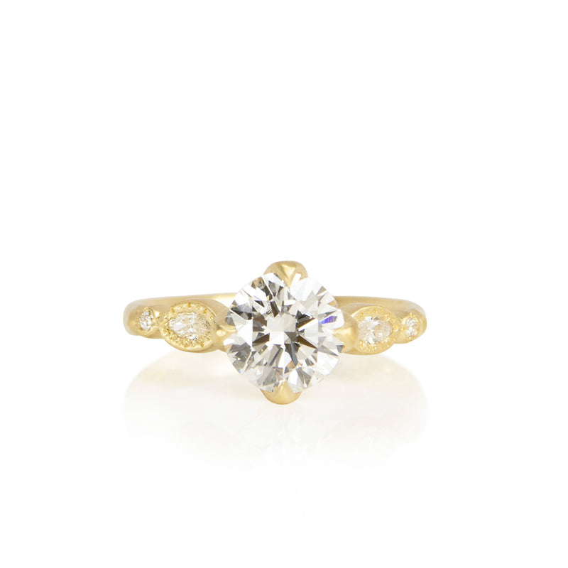 OVAL AND ROUND ROSEBUD SOLITAIRE