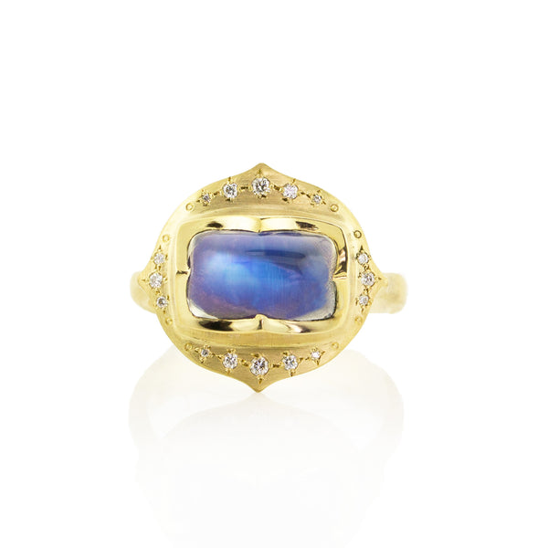 Moonstone Crown Ring