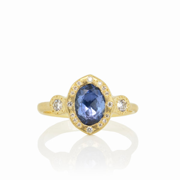 OVAL ROSECUT SAPPHIRE RING