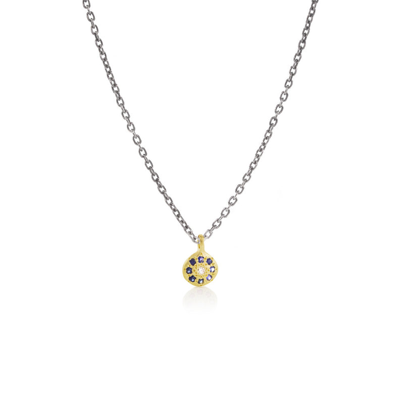 FLORET CHARM ON ANTIQUE CHAIN