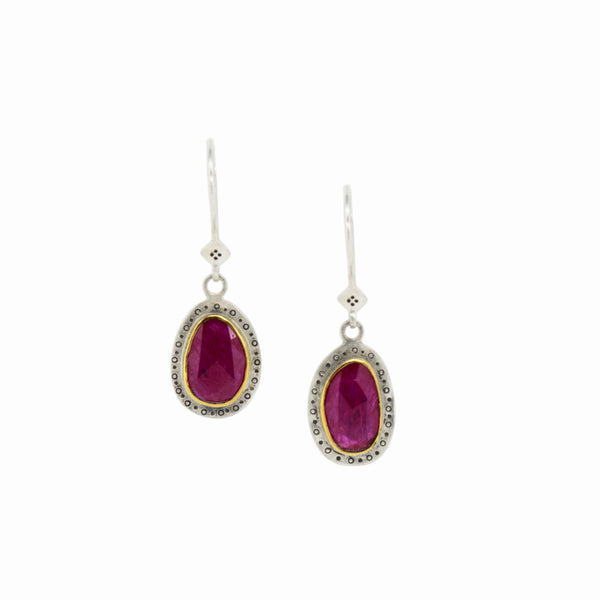 MOZAMBIQUE HARMONY RUBY DROP EARRINGS