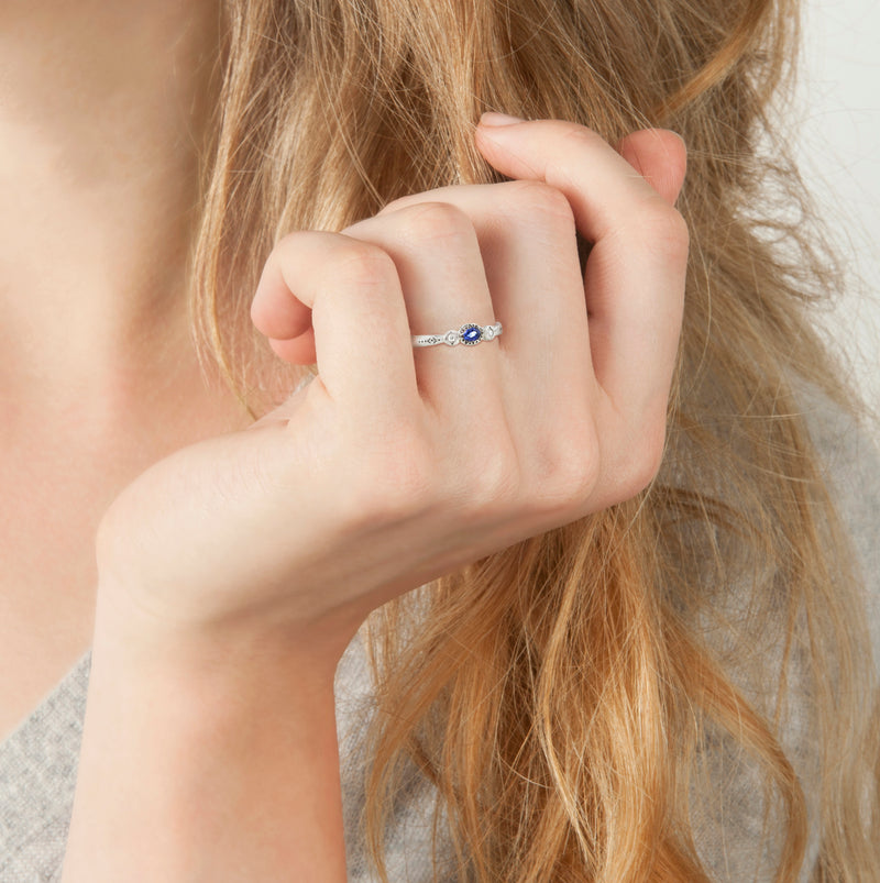 OVAL AND ROUND CHARM RING