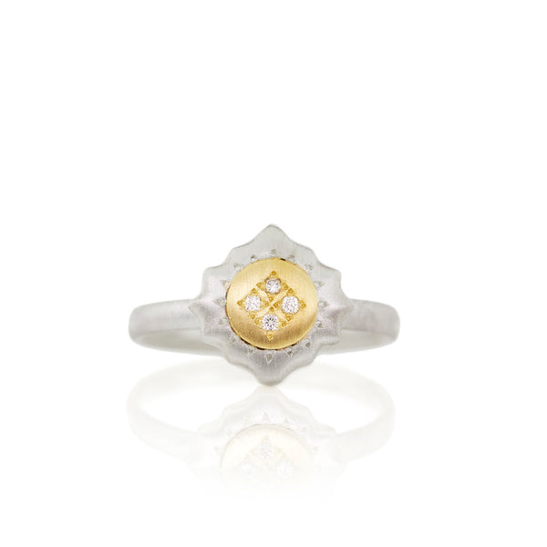 EAST & WEST CHARM RING