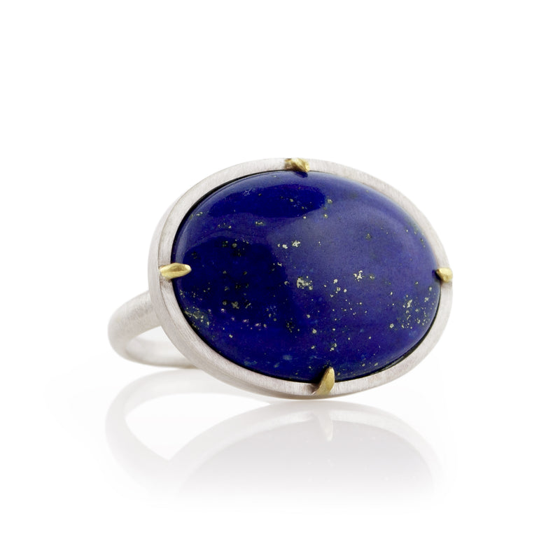 Lapis Prong Ring