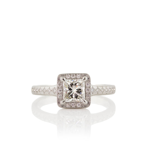 PRINCESS CUT PRONG SUCCESSION RING