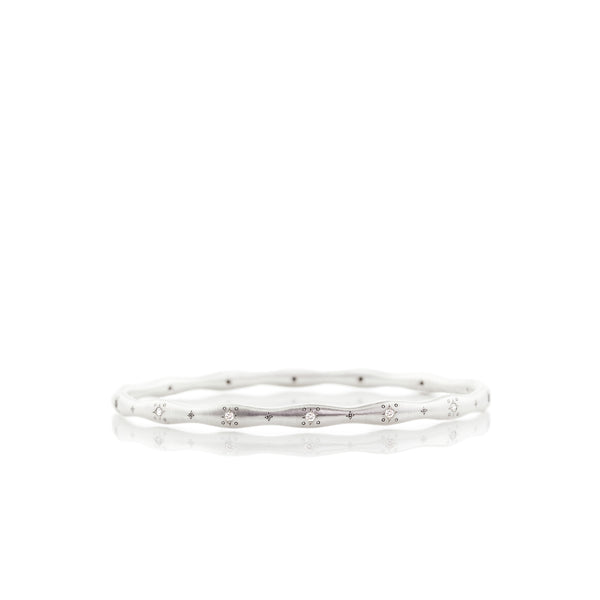 Wavy Stepping Stone Bangle