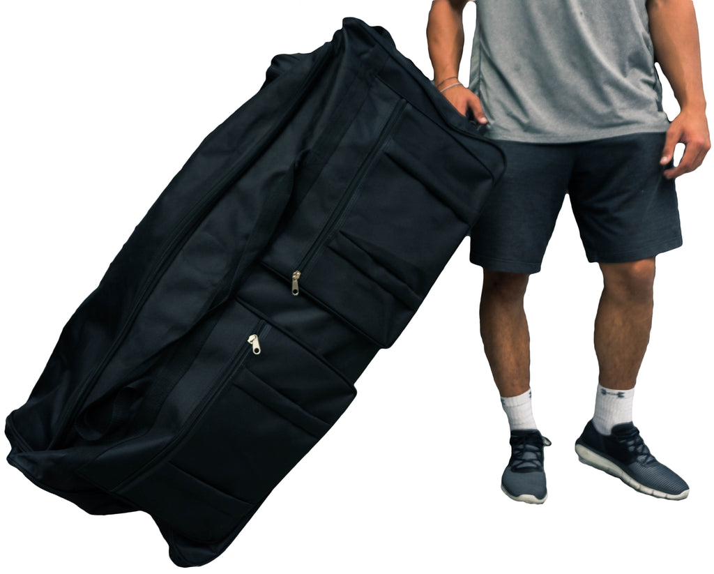 "Gothamite 42-inch Wheeled Rolling Duffel Bag Cargo Travel Sports Hockey 42"", Black, XL"