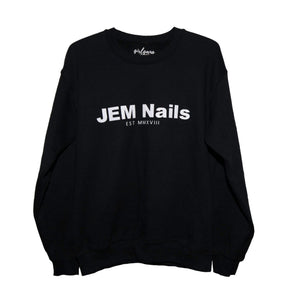 JEM Nails Black Crewneck