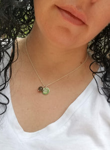 TRINITY CHARM NECKLACE WITH LABRADORITE