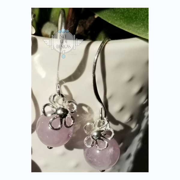 DAIZY EARRINGS WITH LAVENDER AMETHYST