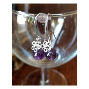 DAIZY EARRINGS WITH AMETHYST