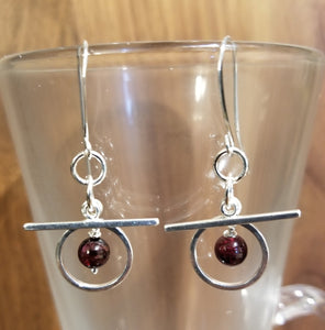 ART DECO GARNET EARRINGS
