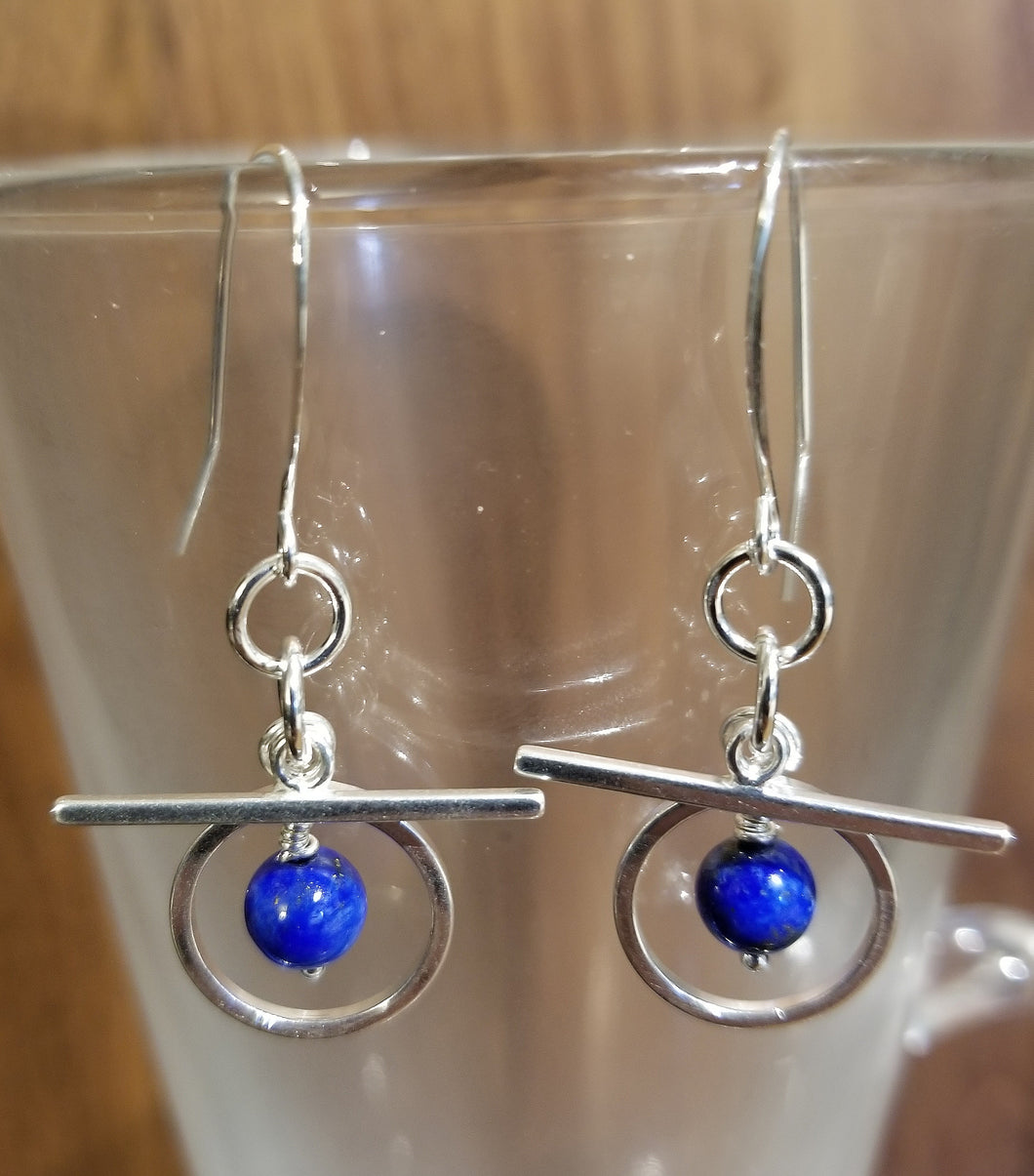ART DECO LAPIS LAZULI EARRINGS