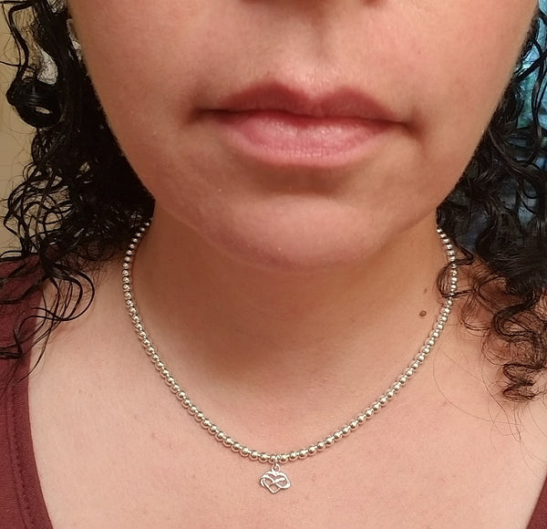 SWEET GEMS ALL SILVER NECKLACE WITH INFINITY HEART CHARM