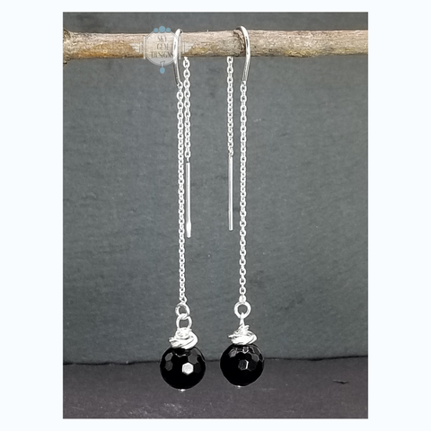 SWEET GEMS MYSTICAL ONYX DROP EARRINGS