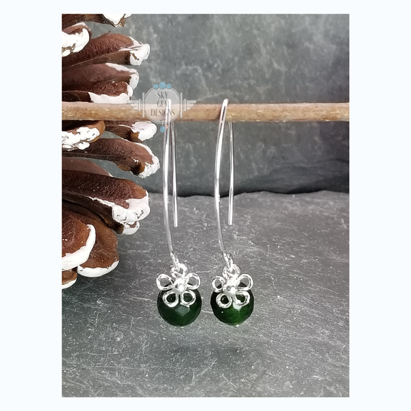 DAIZY EARRINGS WITH JADE