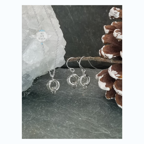 ENDLESS CIRCLE RINGS EARRINGS & NECKLACE