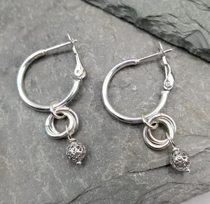 ENDLESS CIRCLE DISCO BALL EARRINGS