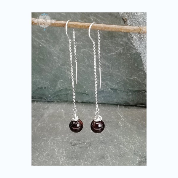 SWEET GEMS MYSTICAL GARNET DROP EARRINGS
