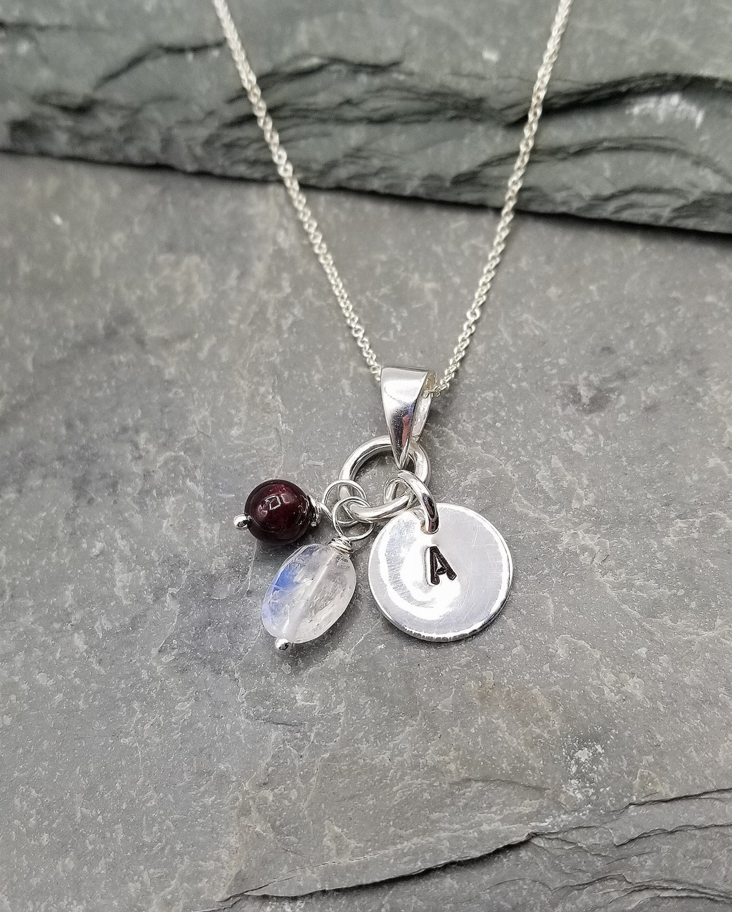 LOVE LETTERS ROUND CHARM NECKLACE