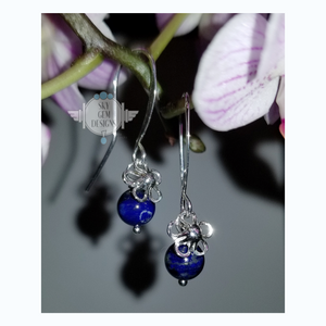 DAIZY EARRINGS WITH LAPIS LAZULI