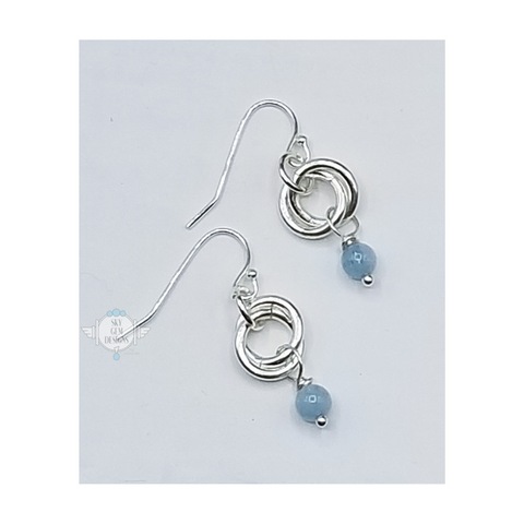 ENDLESS CIRCLE EARRINGS WITH AQUAMARINE