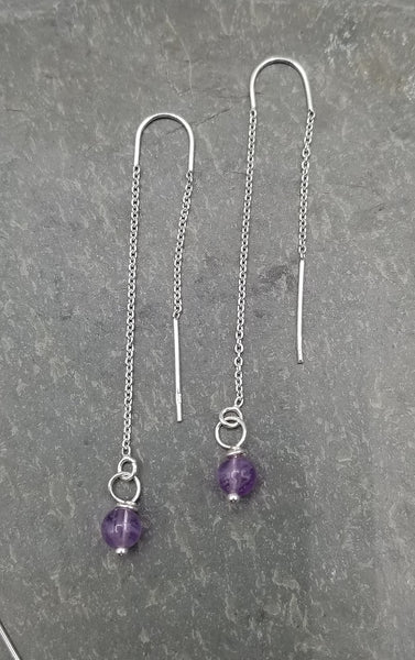 SWEET GEMS DROP AMETHYST EARRINGS