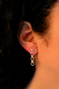 ENDLESS CIRCLE EARRINGS ~ RINGS WITH STUD CLOSURE