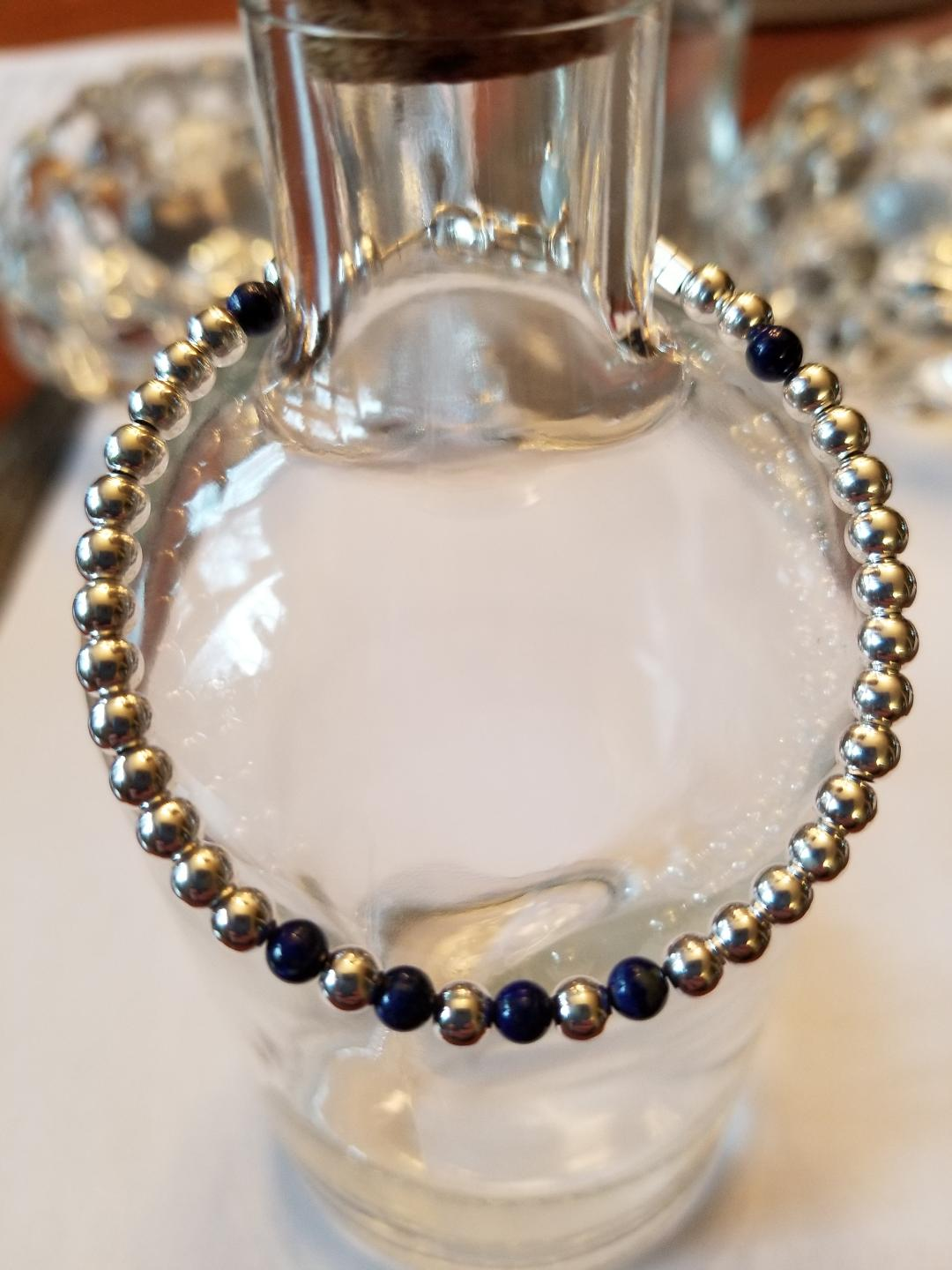 SWEET GEMS STERLING SILVER BRACELET WITH LAPIS LAZULI