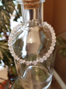 SWEET GEMS ROSE QUARTZ WITH STERLING SILVER BRACELET