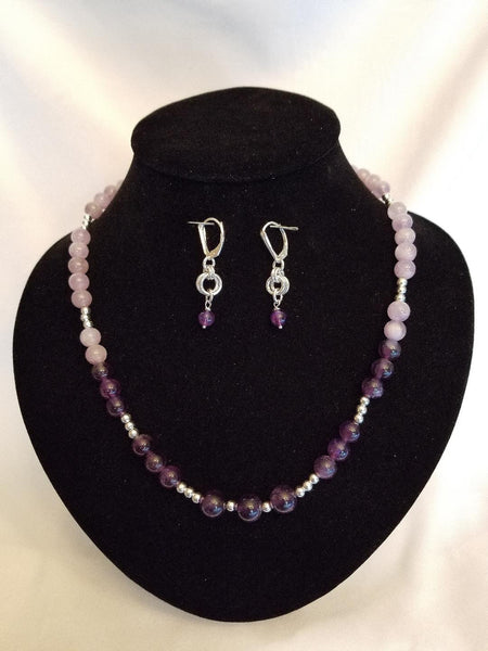LAVENDER & DARK AMETHYST NECKLACE SET