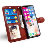 LANCASE iPhone XS Max/XR/XS/X/8 Leather Case with Flip Cover