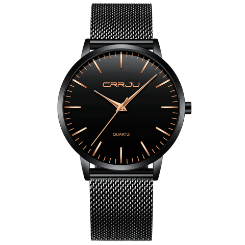 CRRJU Men's Leather Watch