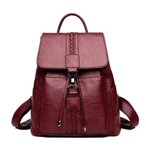 Vanderwah Women Genuine Leather Backpack