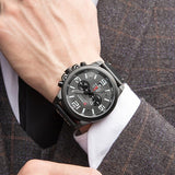 Men's Chronograph Leather Watch
