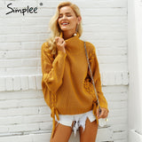 Simplee Lace Up Sweater