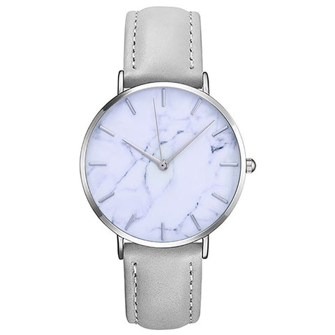 Susenstone Women's Stylish Marble Watch