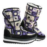 Checkerd Winter Boots