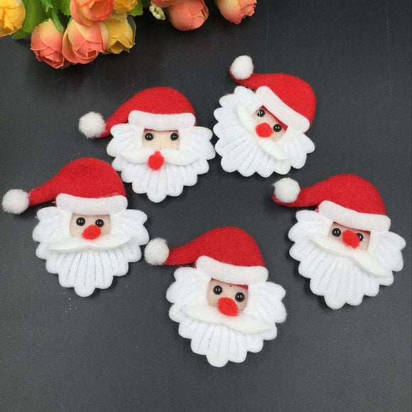 Santa Claus Padded Felt Christmas Decoration
