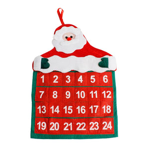 Advent Calendars Christmas Decorations Santa Claus Calendar Hotel Lobby Family Pendant U70928