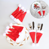 Santa Hat Cutlery Holder