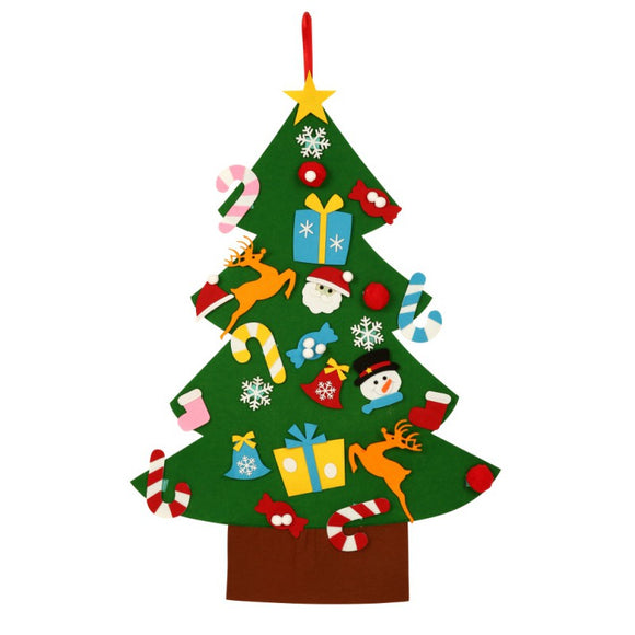 Kids DIY Felt Christmas Tree with Ornaments