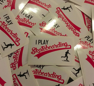 I Play Skateboarding Sticker