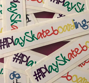 I Play Skateboarding Coloring Sticker - 10 Pack