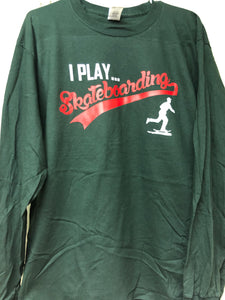 Long sleeve Iplayskateboarding tee