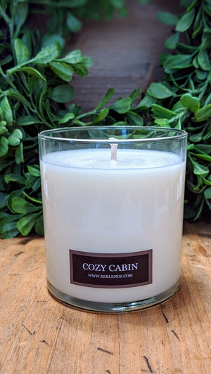 Cozy Cabin Glass Tumbler Soy Candle