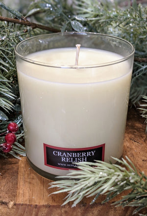Cranberry Relish Glass Tumbler Soy Candles